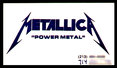 Metallica - Power Metal (1982)