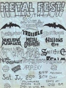 Milwaukee Metal Fest 87 flyer
