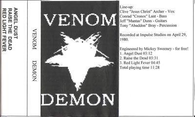 Venom - Demon DEMO (1980)